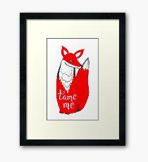 Fantastic Mr. Fox, Tame Me, fox, kosharek art, the Little Prince Framed Print
