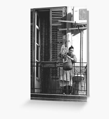 SICILIAN LADY (TRADITION) Greeting Card