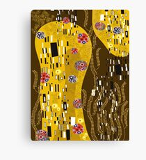 Klimt Art Nouveau Golden Art | 'The Kiss' Inspired Canvas Print