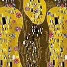 Klimt Art Nouveau Golden Art | 'The Kiss' Inspired by fatfatin