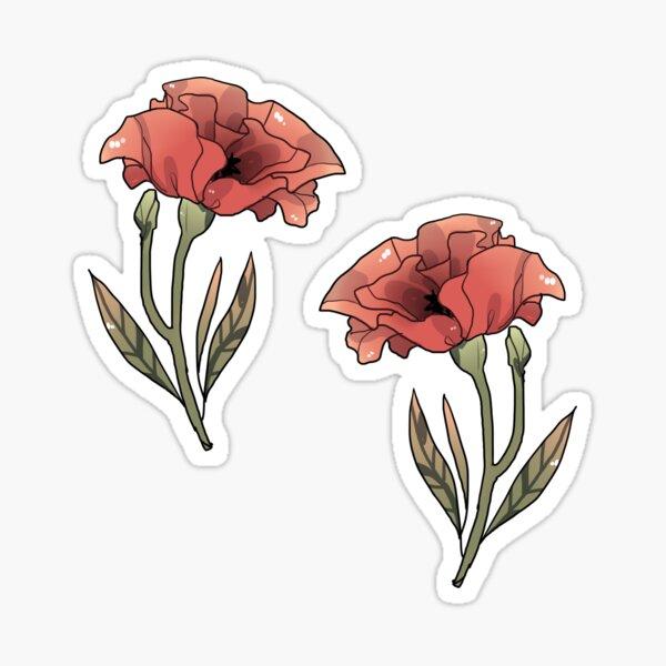Poppy - sticker Sticker