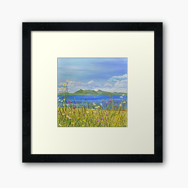 Over to Arran Framed Art Print