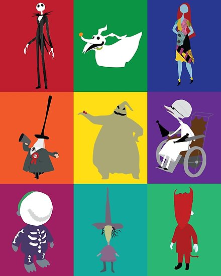 nightmare before christmas characters by ehaverstick - Nightmare Before Christmas Characters