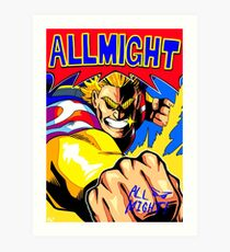 ALL MIGHT anime poster (with signature) Art Print