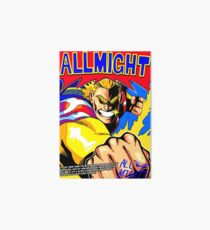 ALL MIGHT anime poster (with quote + signature) Art Board
