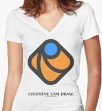 Everyone can draw Women's Fitted V-Neck T-Shirt