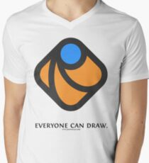 Everyone can draw Mens V-Neck T-Shirt