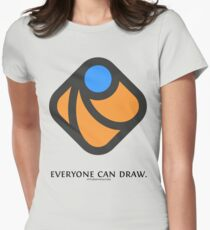 Everyone can draw Women's Fitted T-Shirt