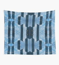 Blue Architecture Abstract Wall Tapestry
