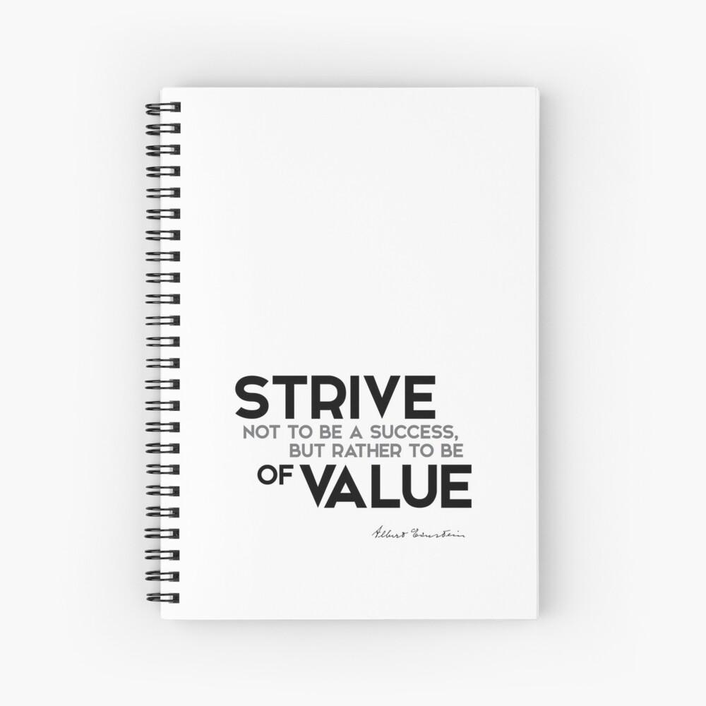 esfuerzo de valor - einstein Cuaderno de espiral