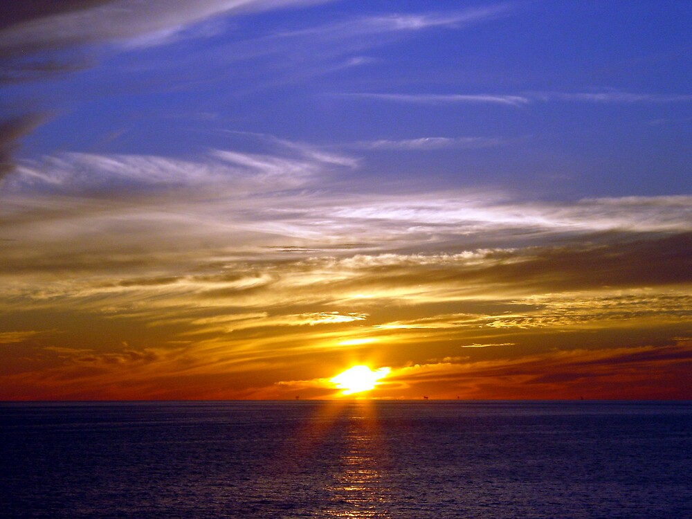 March Sunset in the Gulf by richard dailey