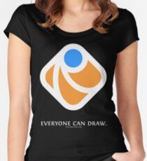 Everyone can draw (black) Women's Fitted Scoop T-Shirt