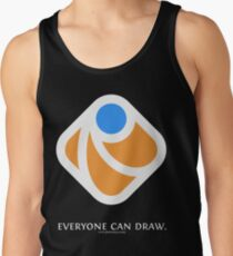 Everyone can draw (black) Tank Top
