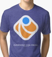 Everyone can draw (black) Tri-blend T-Shirt