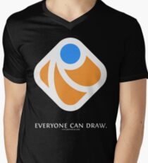 Everyone can draw (black) Mens V-Neck T-Shirt