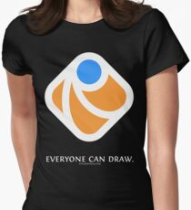 Everyone can draw (black) Women's Fitted T-Shirt