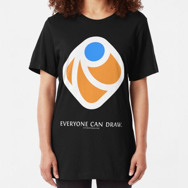 Everyone can draw (black) Slim Fit T-Shirt