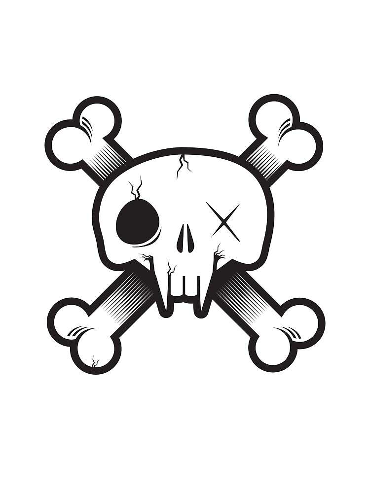 Modern Pirate Skull by heavyhand