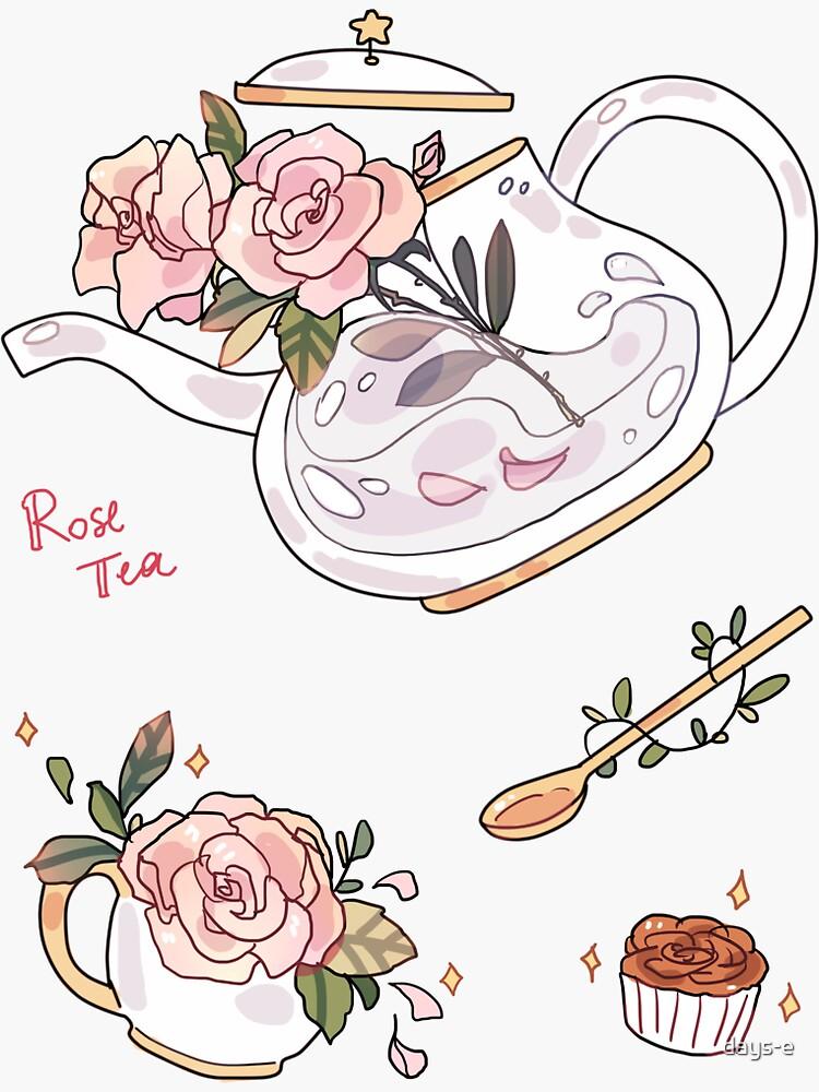 Rose Tea - sticker by days-e