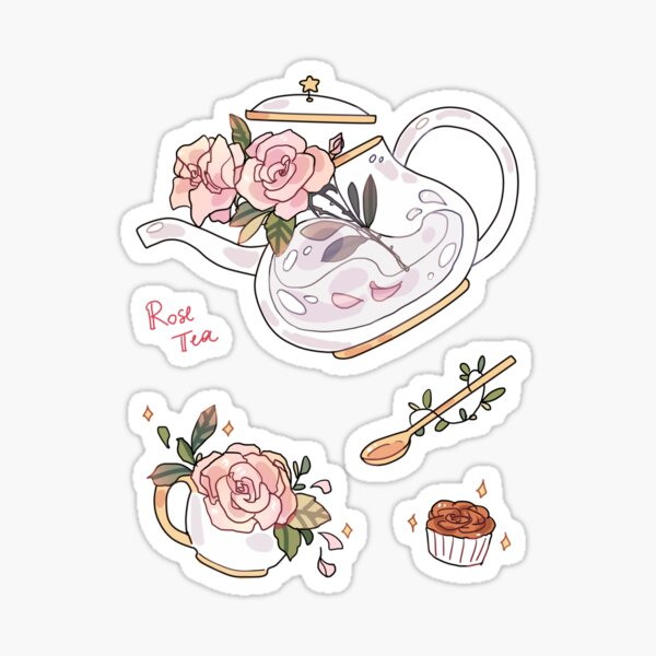Rose Tea - sticker Sticker