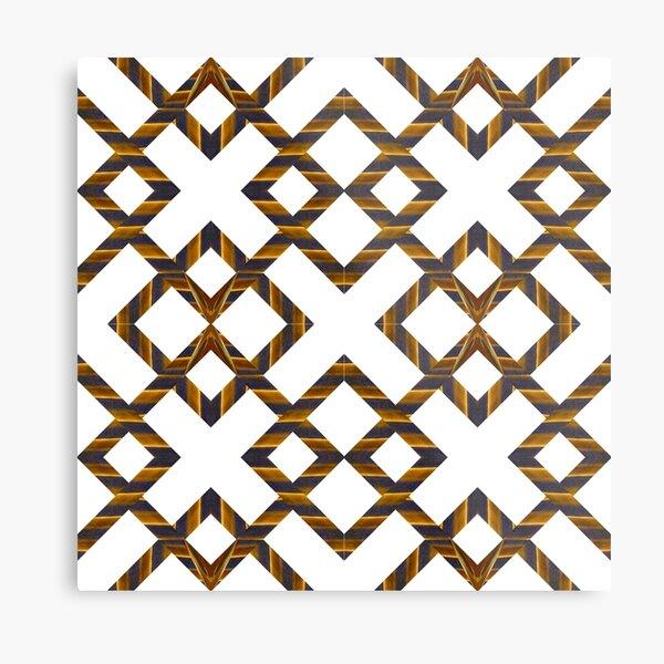 Ornament, decor, tracery, garniture, pattern, design, weave Metal Print