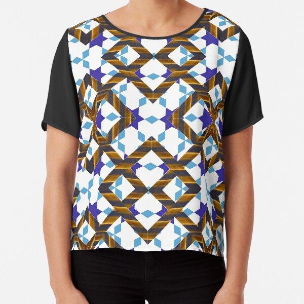Ornament, decor, tracery, garniture, pattern, design, weave Chiffon Top