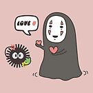Studio Ghibli No-Face in Love of SootBall by DesignDinamique