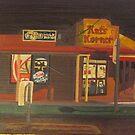 Corner Store at Night by Joan Wild