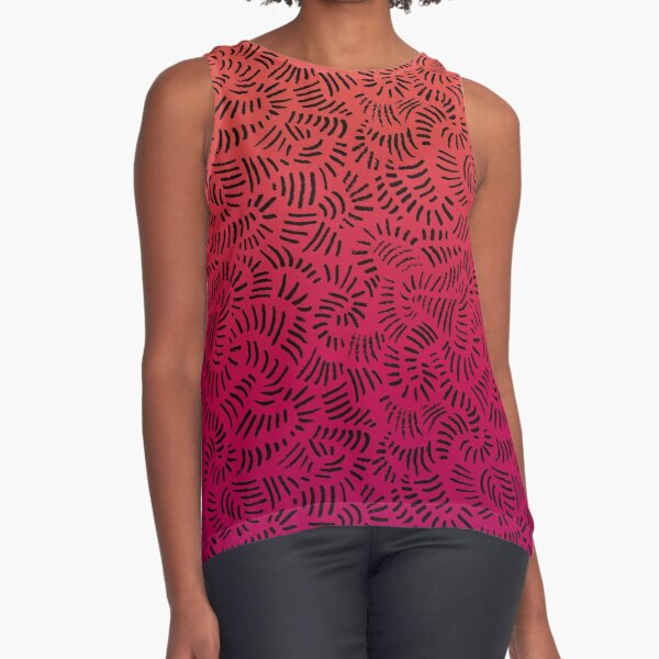 Tropical Abstracts - Jungle Soul Sunset Sleeveless Top