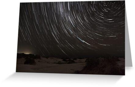 Birubi Beach Star Trails by Mike Salway