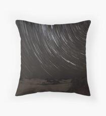 Birubi Beach Star Trails Throw Pillow