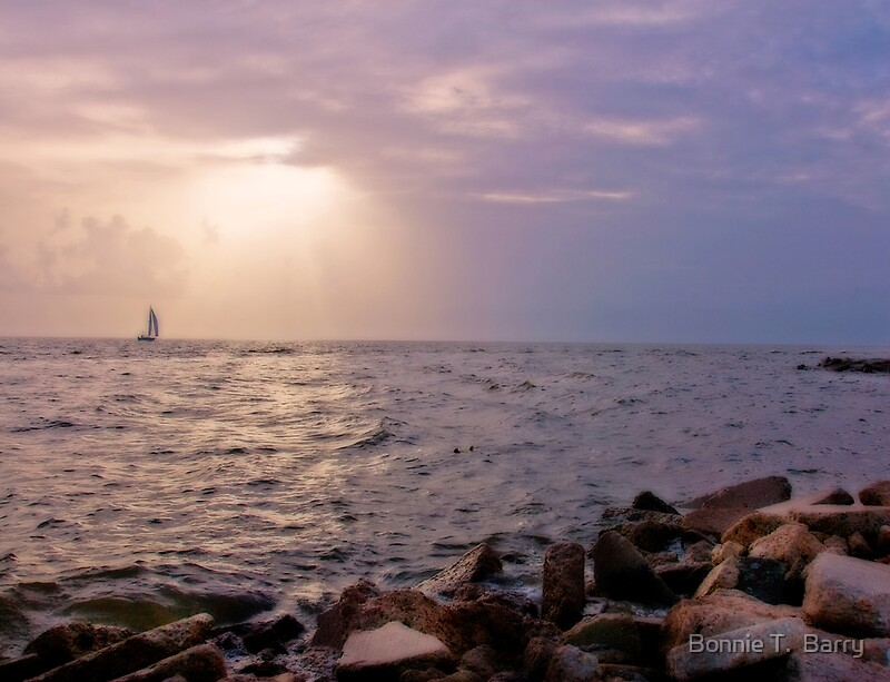 Quot Sailboat At Cypremort Point Quot By Bonnie T Barry Redbubble