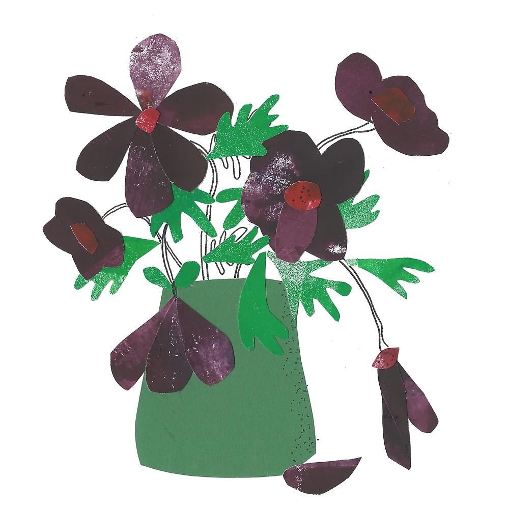 « Purple Flowers » par Mireille  Marchand