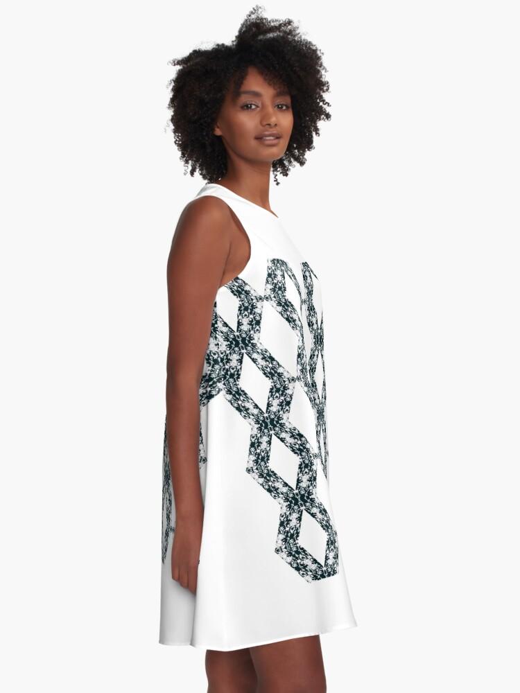 Alternate view of Ornament, decor, tracery, garniture, pattern, design, weave A-Line Dress