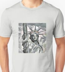 Miss Liberty [etching edition] Unisex T-Shirt