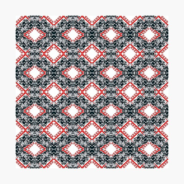 pattern, design, tracery, weave, ornament, decor, garniture Photographic Print