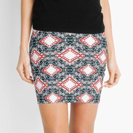 pattern, design, tracery, weave, ornament, decor, garniture Mini Skirt