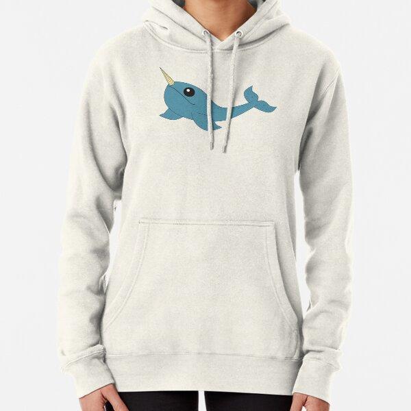 Narwhale Rainbow Adult Hooded Sweatshirt