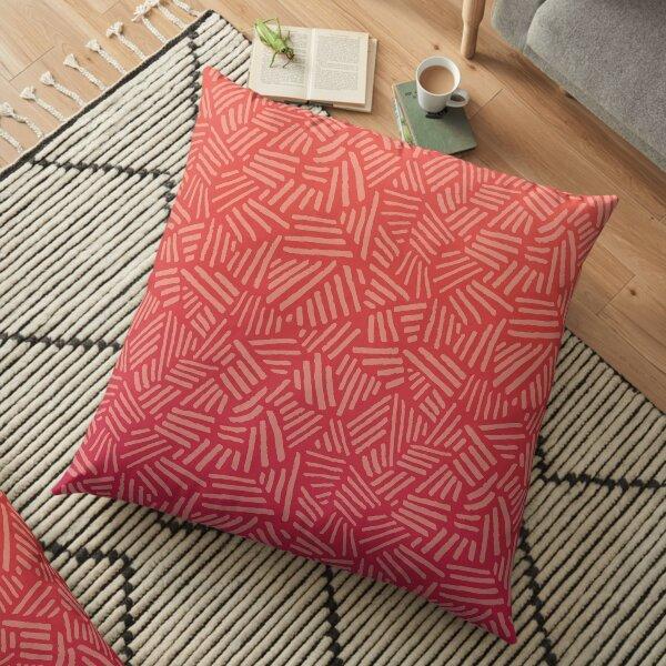 Sunset Jungle Foliage Floor Pillow