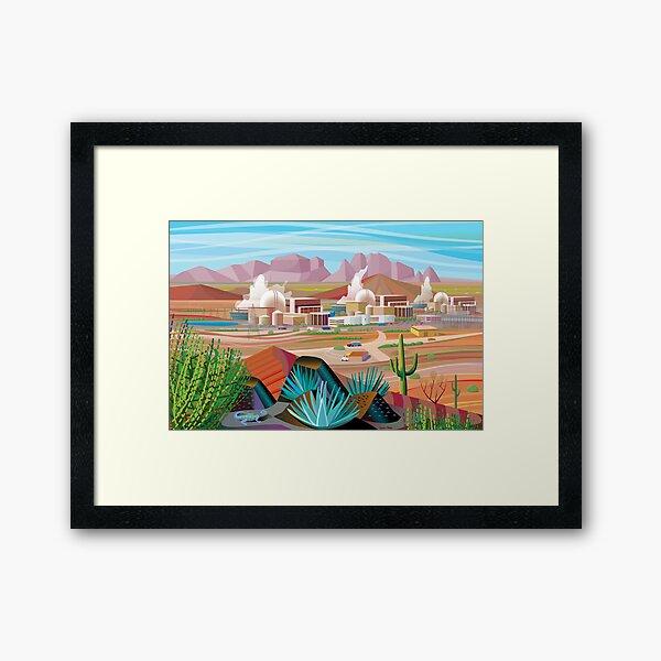 Power Plant in the Desert Framed Art Print