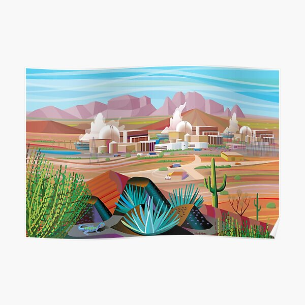 Power Plant in the Desert Poster