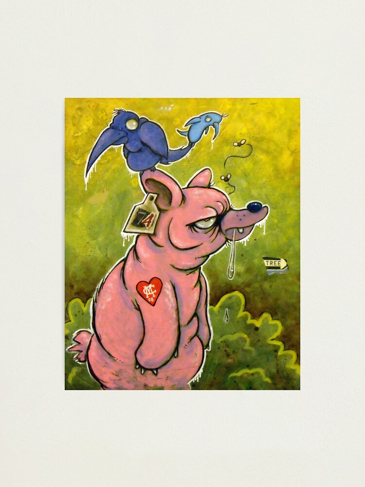 Alternate view of The PigBear Blues Photographic Print