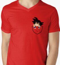 Camiseta para hombre de cuello en v Pocket Goku