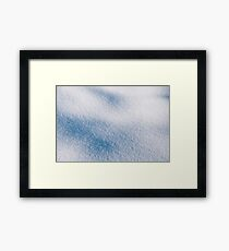 Textured snow abstract in blue Framed Print