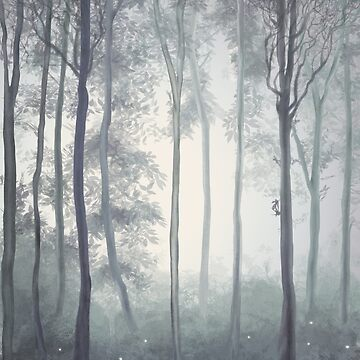 Frozen Fog in the Forest by 3vaN