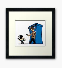 Sherlock and Who Framed Print