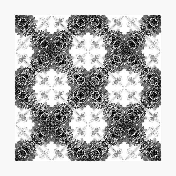 ornament, decor, tracery, garniture, pattern, design, weave Photographic Print