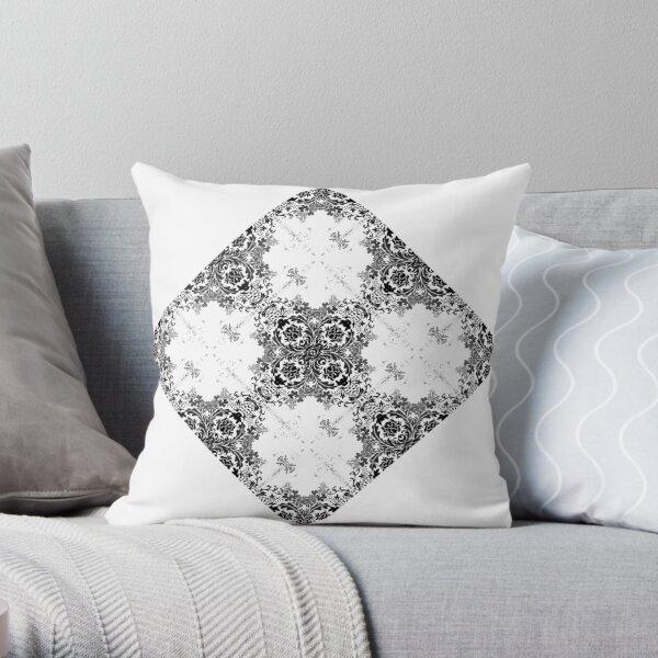 ornament, decor, tracery, garniture, pattern, design, weave Throw Pillow