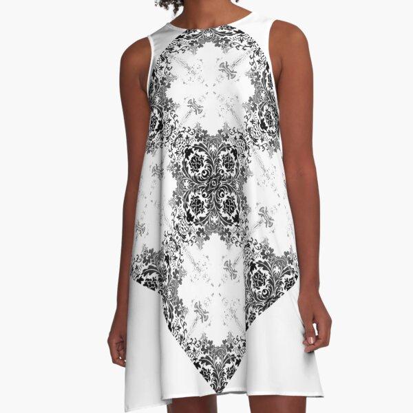 ornament, decor, tracery, garniture, pattern, design, weave A-Line Dress