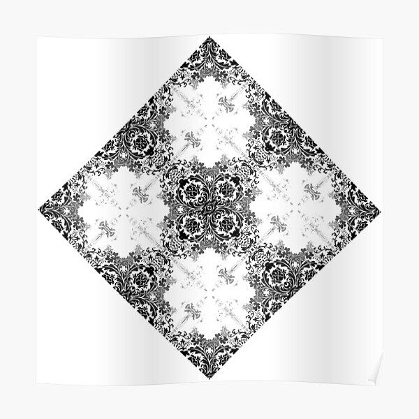 ornament, decor, tracery, garniture, pattern, design, weave Poster